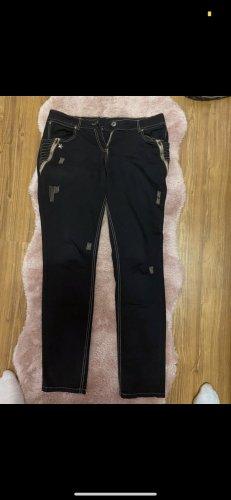 Schwarze Jeans mit Nähten