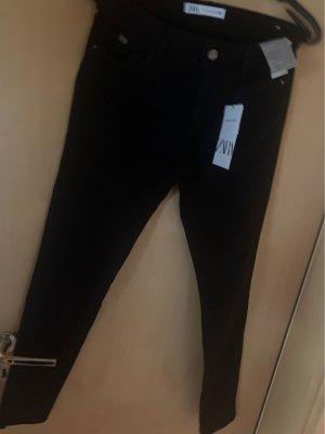 Zara 7/8-jeans zwart