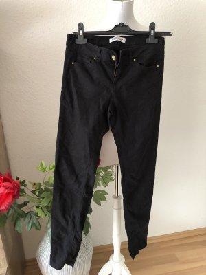 Schwarze Jeans Röhrenhose in S