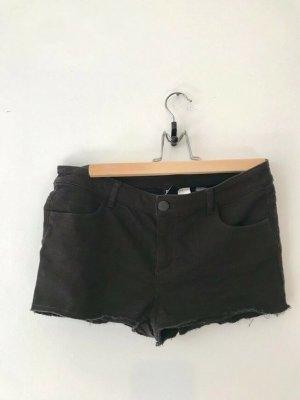 Schwarze Jeans Shorts