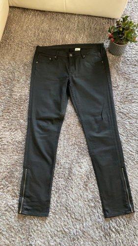 Schwarze Jeans / Skinny Low Waist Ankle von H&M, Gr. 33