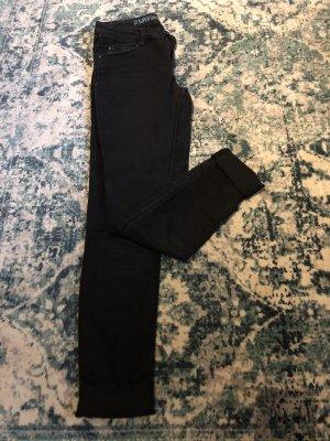 schwarze Jeans, Stoffhose, ultra soft, super skinny