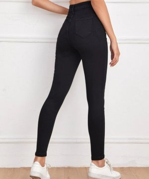 Noisy May Spodnie rurki czarny