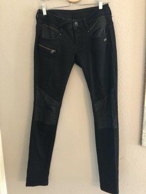 Gang Jeans vita bassa nero
