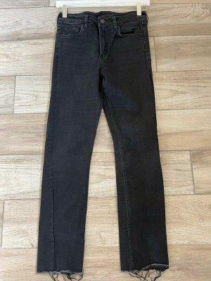 Schwarze Jeans von H&M, Gr. 27 / Slim Ankle High Waist