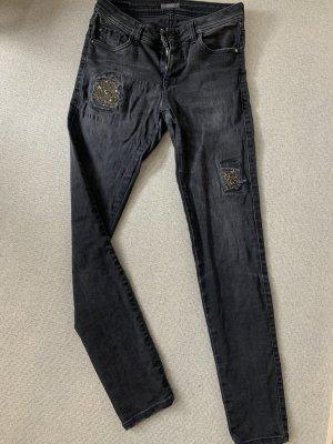 Schwarze Jeans von Kocca Gr. 36/38