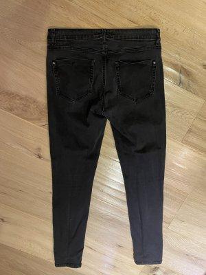 Mango Denim & Tees Jeansy z prostymi nogawkami czarny