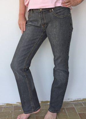 Zabaione Pantalone cinque tasche nero-argento Cotone