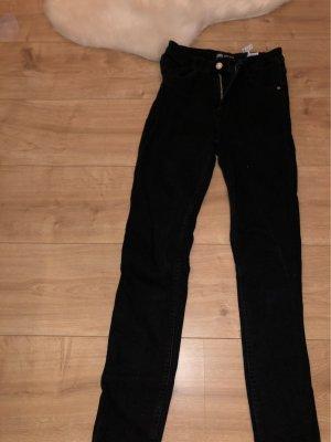 Zara Vaquero de talle alto negro