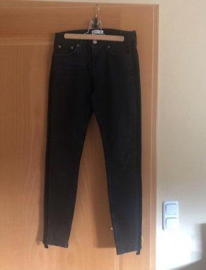 Schwarze Jeans Zara mit Samtstreifen