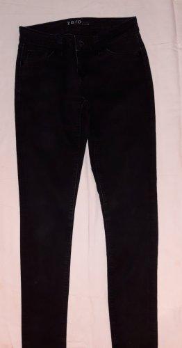 Zero Jeans carotte noir coton