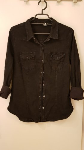 Schwarze Jeansbluse