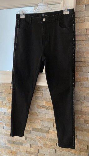 Schwarze Jeanshose