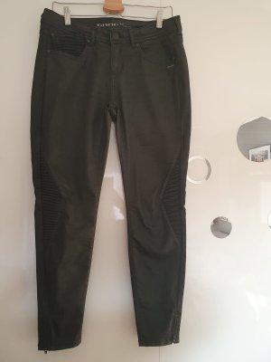 Schwarze Jeanshose mit Lederoptik