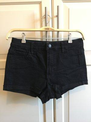 schwarze Jeansshorts von Hollister