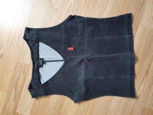 Venice beach Gilet en jean gris foncé-noir