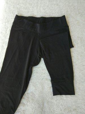 Schwarze Jogginghose 3/4 Länge
