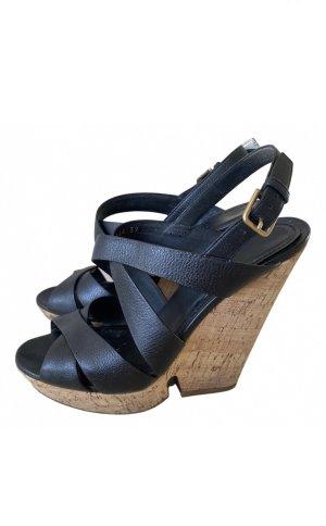 Schwarze Keil Schuhe von YSL
