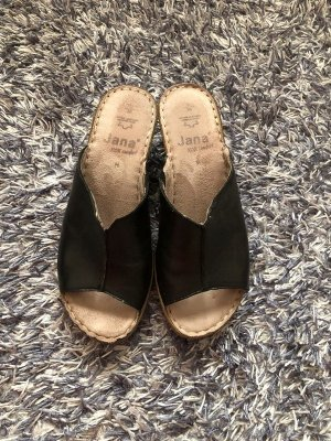 Schwarze Keilabsatz-Schuhe 39
