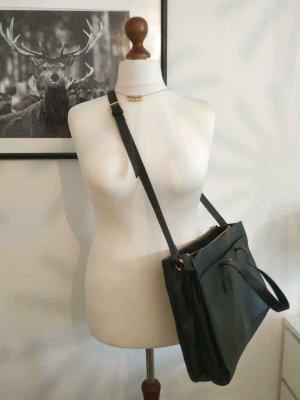 schwarze Kiomi Handtasche Echtleder