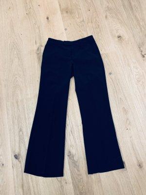 Schwarze klassische Stoffhose v Mexx breites Bein, Bügelfalten, Wolle Gr. 36/S