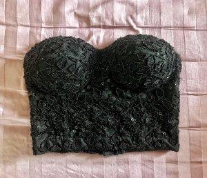 Corpiño negro acetato