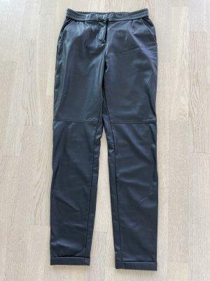 Sandwich Pantalone in pelle nero