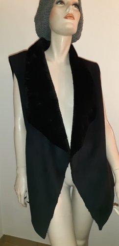 schwarze Kunstfellweste,Größe L von Gypsy