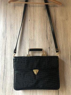 Schwarze Kunstleder-Tasche
