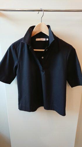 schwarze Kurzarm-Bluse von tonno&panna