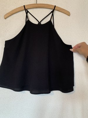 Schwarze kurze Camisole