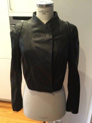 COS Leather Jacket black