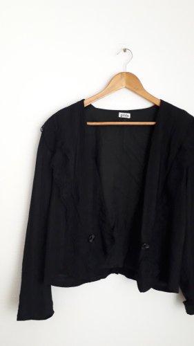 Schwarze Kurzjacke Blazer vintage