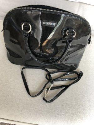 Schwarze Lack-Handtasche ✨