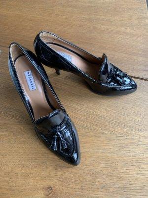 Schwarze Lack-High Heels