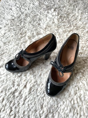 Schwarze Lack Mary Jane Pumps