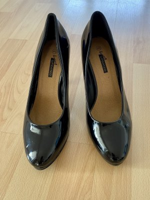 Schwarze Lack-Optik-Pumps