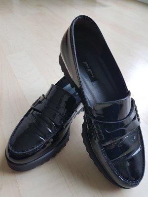 Schwarze Lack-Slipper von Paul Green, Gr. 36