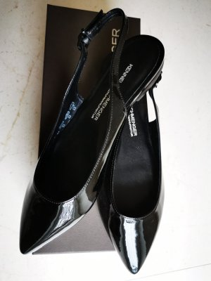 Kennel und Schmenger Slingback Ballerinas black leather