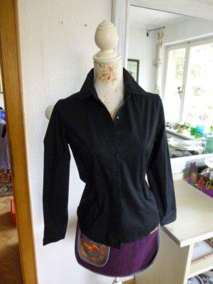 Schwarze Langarm Bluse Gr. M