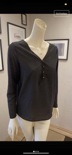 Schwarze Langarm-Bluse von H&M