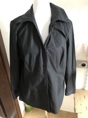 schwarze Langarmbluse / Bluse von Vivien Caron - Gr. 44