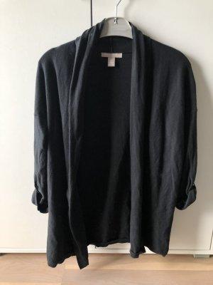 Schwarze lange Cardigan