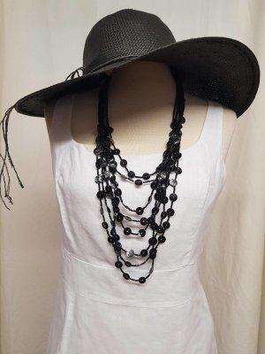 Schwarze lange Halskette