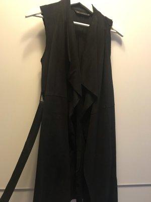 Zara Gilet en cuir noir