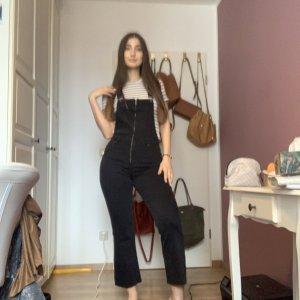 Zara Salopette en jeans noir