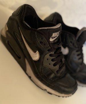 Nike Sneakers met veters zwart-wit Leer