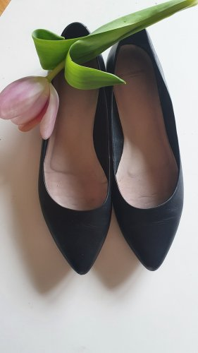 schwarze Leder #Ballerinas