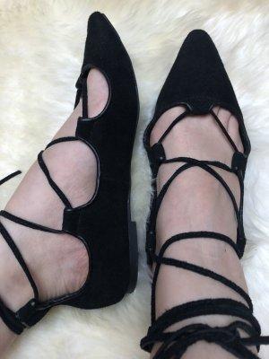 Gap Ballerines à lacets noir cuir