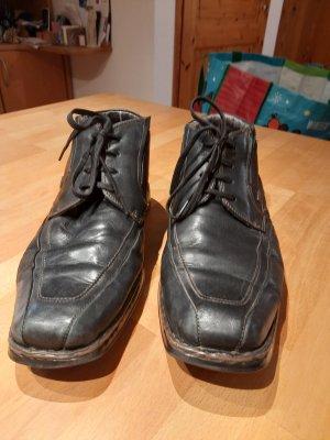 Bugatti Sznurowane buty czarny Skóra